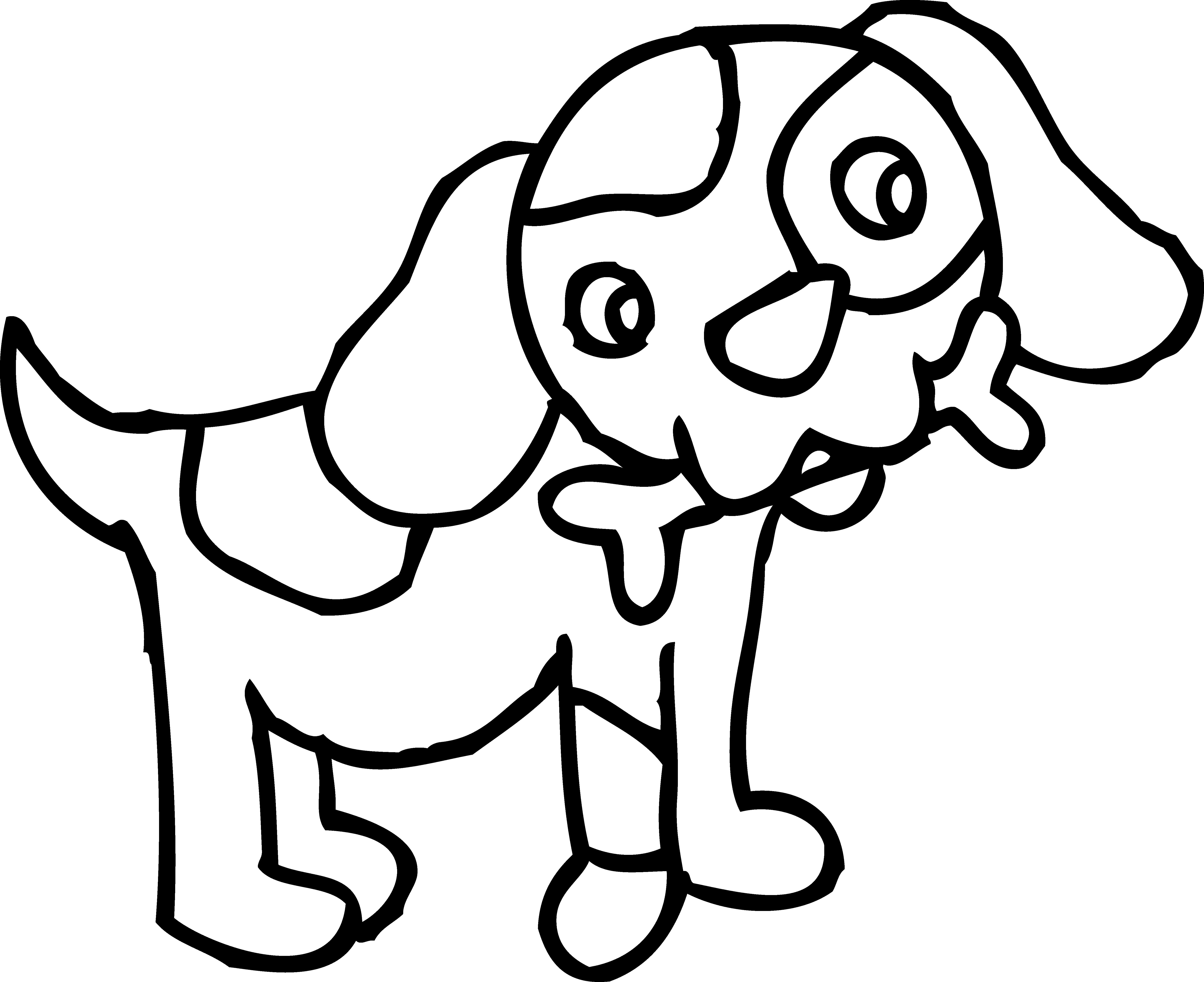 Funny Cartoon Dog Pictures To Color